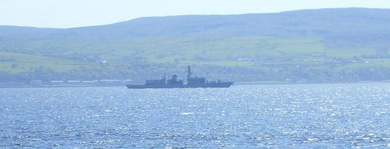 Hazy day on the Firth of Clyde for the Joint Warrior gathering