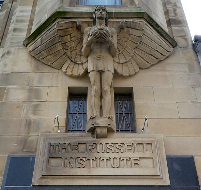 Russell Institute Winged Sculpture